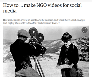 How to make NGO videos for social media